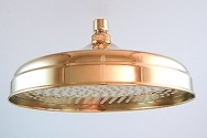 "10"" legacy polished brass rain shower head"