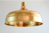 "8"" legacy polished brass rain shower head"